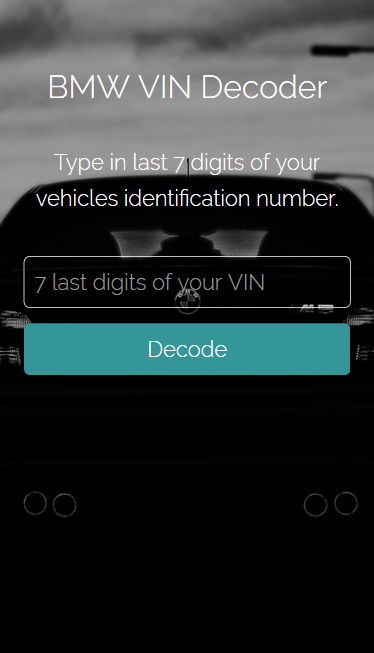 BMW VIN Decoder 1 2 3 APK Download - Android cats