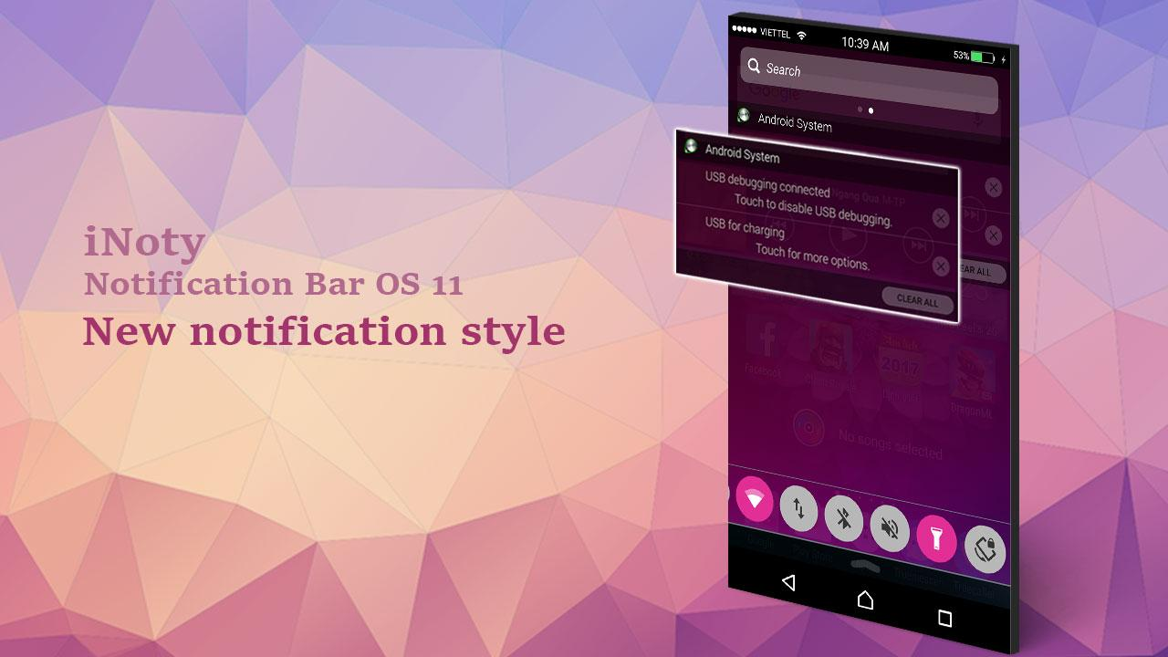 iNoty : Notification bar OS 11 1 4 5 44 APK Download - Android Tools