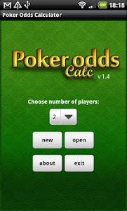 Poker Odds Calculator 1.4.3 screenshot 1