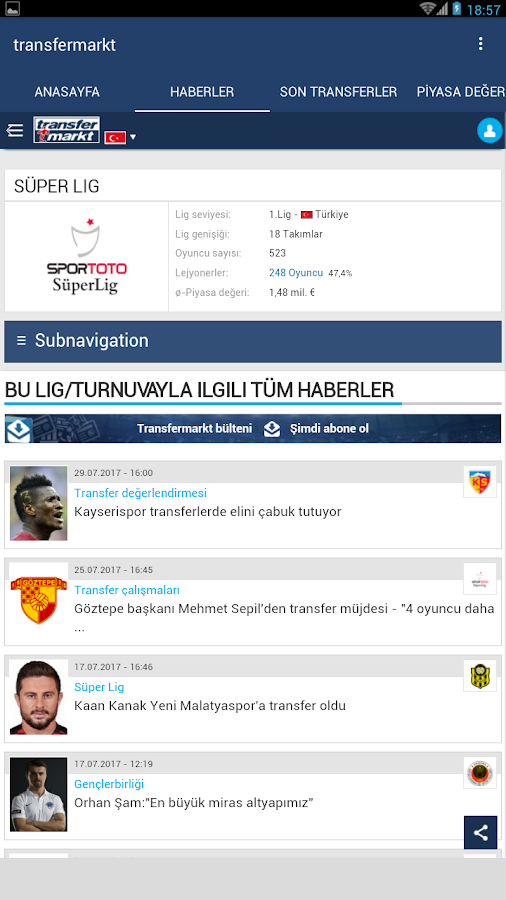 transfermarkt TR 1 0 APK Download - Android Sports Games