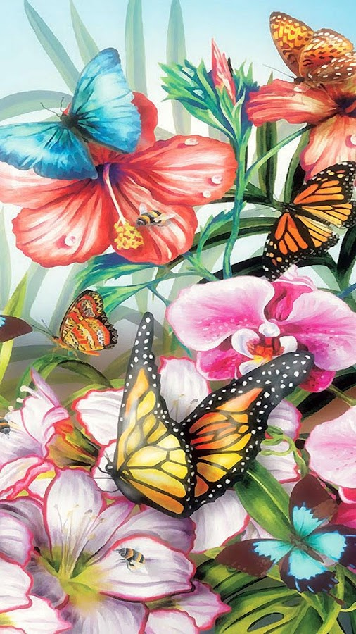 Butterfly Live Wallpaper Animated Butterflies 24 Screenshot 1