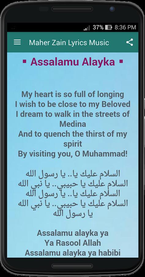 Maher Zain Lyrics Music 4 1 1 APK Download - Android Music