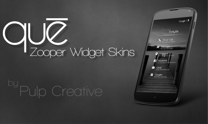 Que Zooper Widget Skin 1 0 APK Download - Android