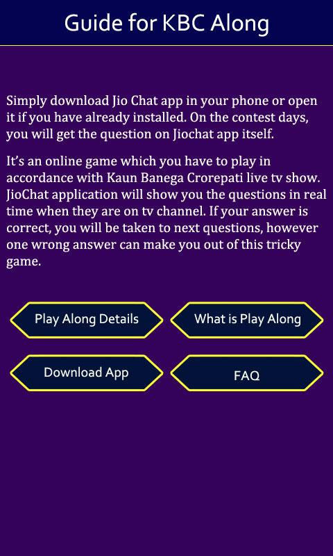 Guide For Jio KBC Play Along 1 0 APK Download - Android Books