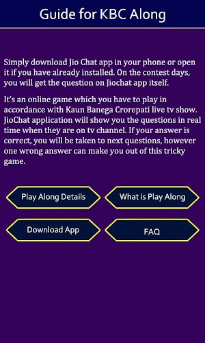 Guide For Jio KBC Play Along 1 0 APK Download - Android