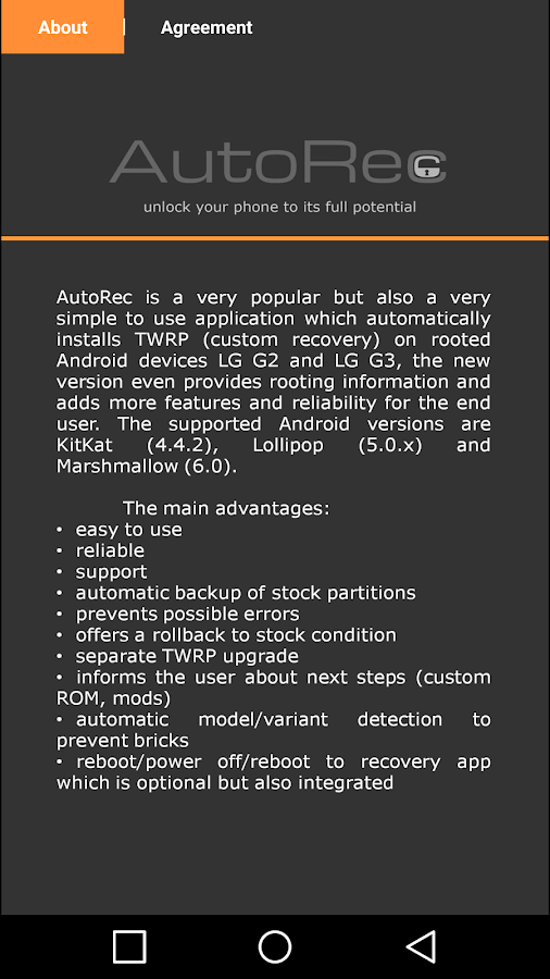 AutoRec for LG G3(D852) - 6 0 APK Download - Android Tools Apps