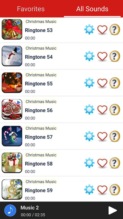 christmas music ringtones