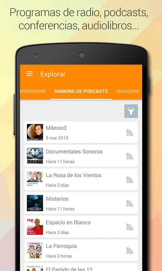 iVoox Podcast (Android 2 3) 1 1 APK Download - Android Music & Audio