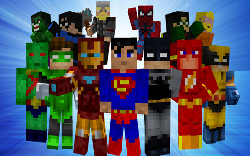 SuperHeroes MODS For MineCraft APK Download Android - Minecraft spiele mods