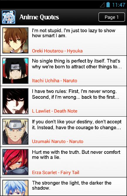 Anime Quotes And Jokes 13 Screenshot 2