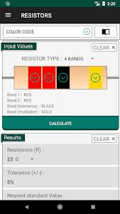 Electronics Engineering Calculators 2.1.0 screenshot 5