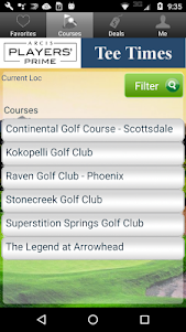 Arcis Prime Players Golf Tee Times - Phoenix 1.14.0 screenshot 2
