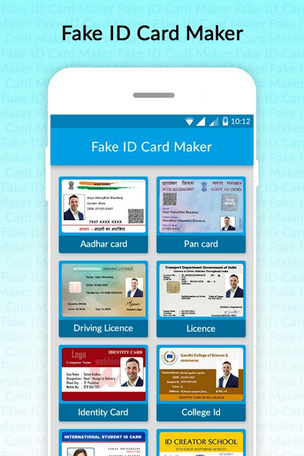 Fake ID Card Generator 1 0 APK Download - Android