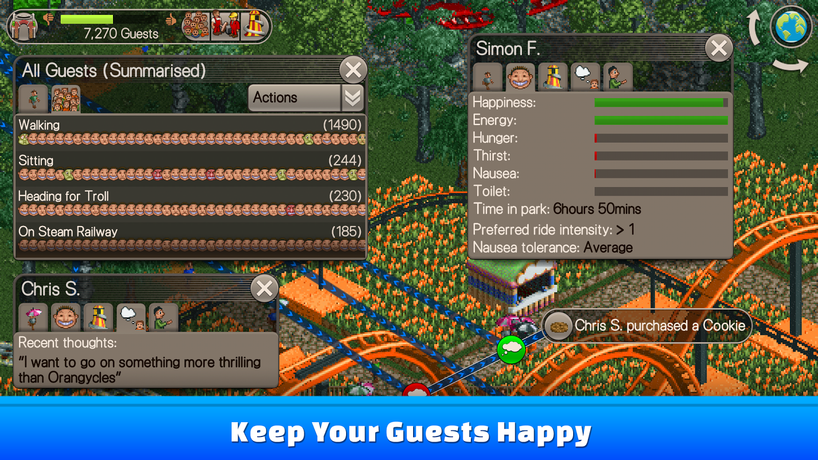 Rollercoaster tycoon touch android | RollerCoaster Tycoon Touch is