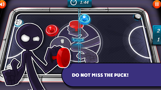 Air Hockey: Delicate Stickman 1.1 screenshot 6
