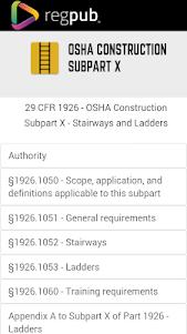 29 CFR 1926 - Subpart X 3.1.1 screenshot 1