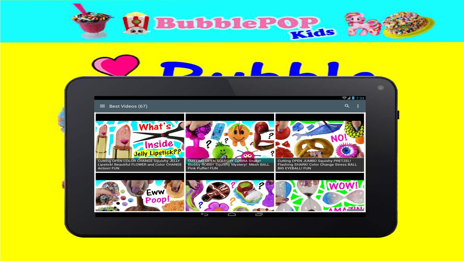 videos of bubble pop kids