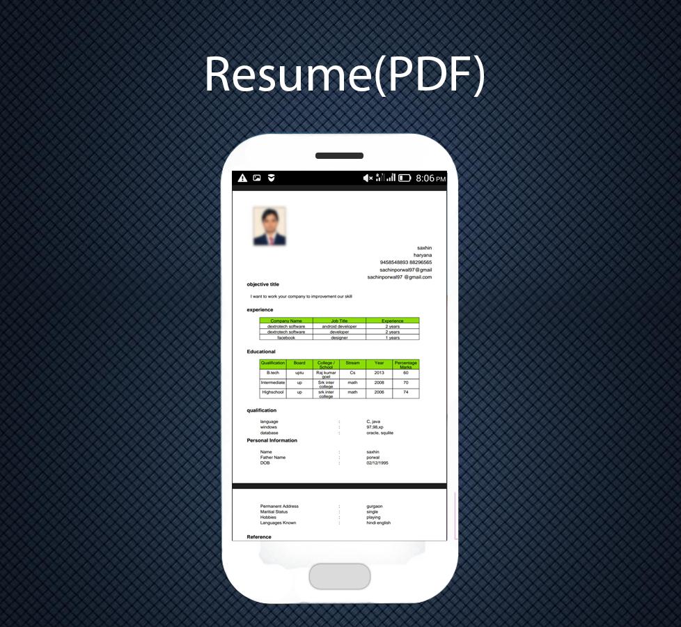 professional resume maker 1 3 apk