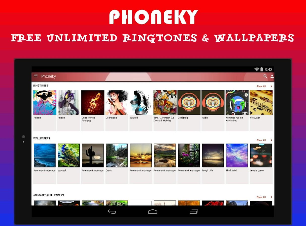 Phoneky Wallpapers & Ringtones 1 0 5 APK Download - Android