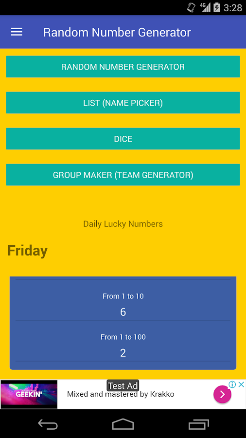 Random Number Generator 3 8 APK Download - Android Tools Apps