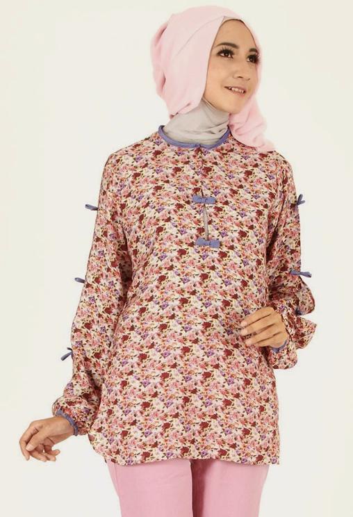 Model Baju Casual Wanita Berhijab - Kumpulan Model Kemeja