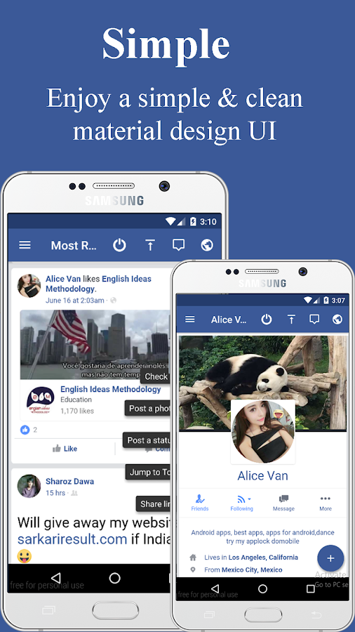 Lite Messenger for Facebook Lite 3 1 APK Download - Android