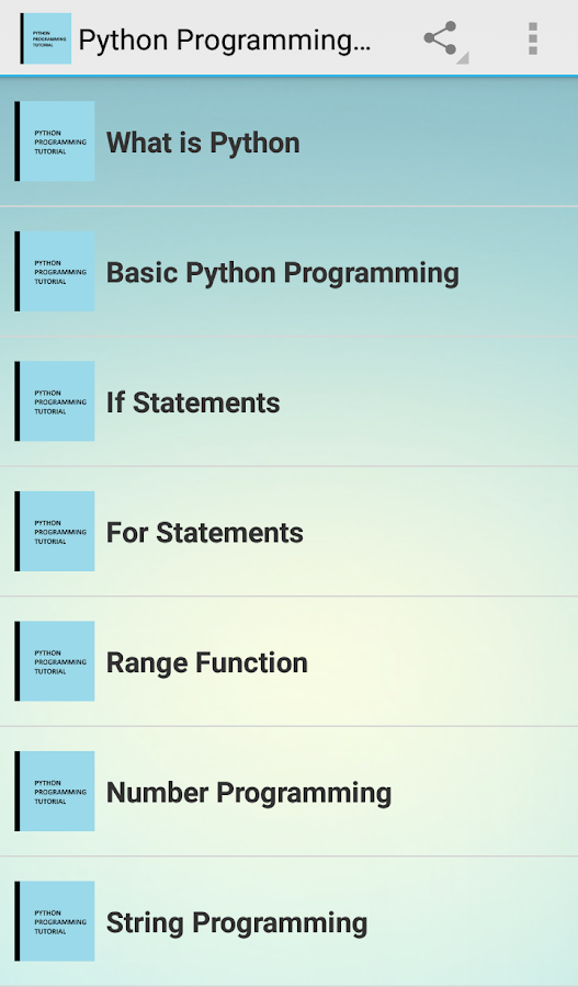 Python Programming Tutorial 1 0 APK Download - Android Books