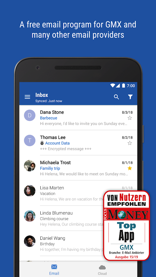 Gmx Mail Cloud Apk Download Android Communication Apps