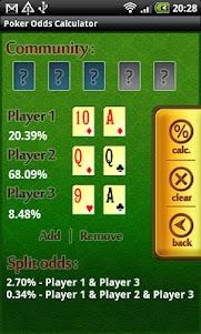 Poker Odds Calculator 1.4.3 screenshot 2