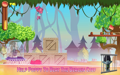 🏰 Super Poppy Troll Rush 1.0 screenshot 3