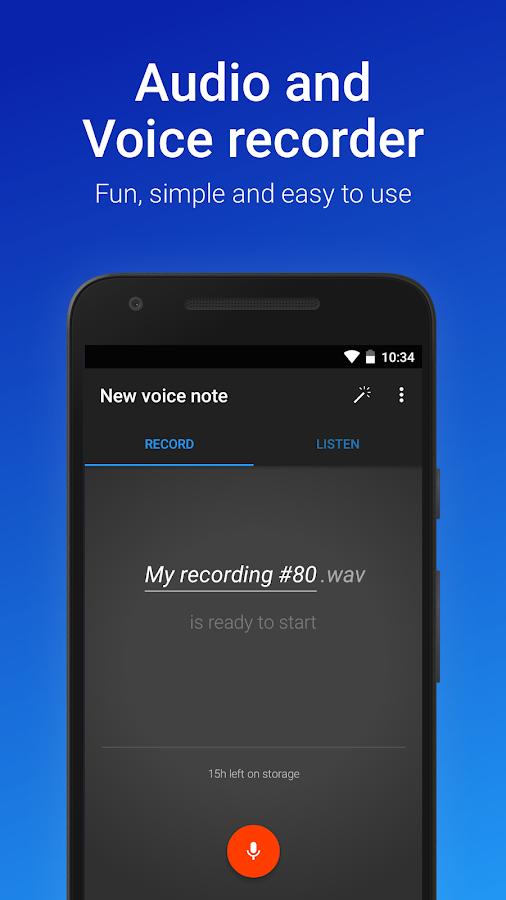 voice recorder pro apk easy