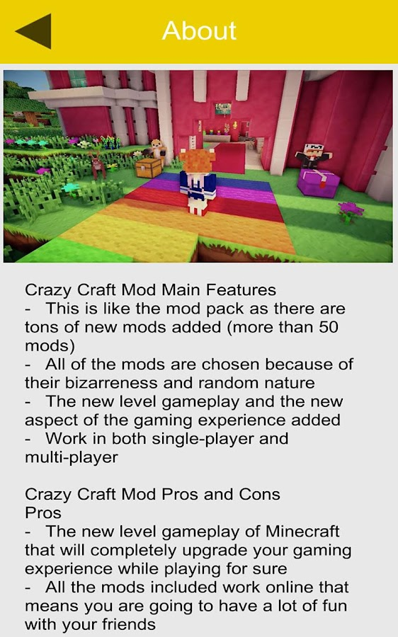 mcpe crazy craft mod pack download