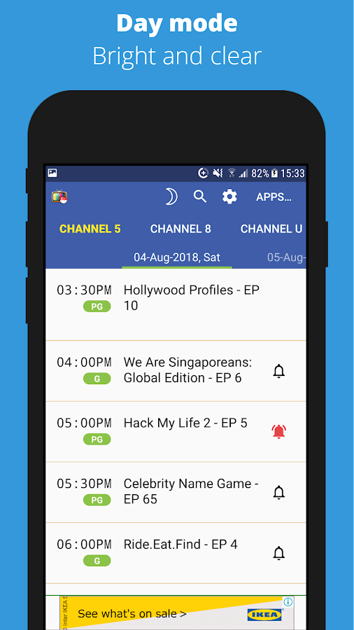 SG TV Guide 2 2 7 APK Download - Android Lifestyle Apps