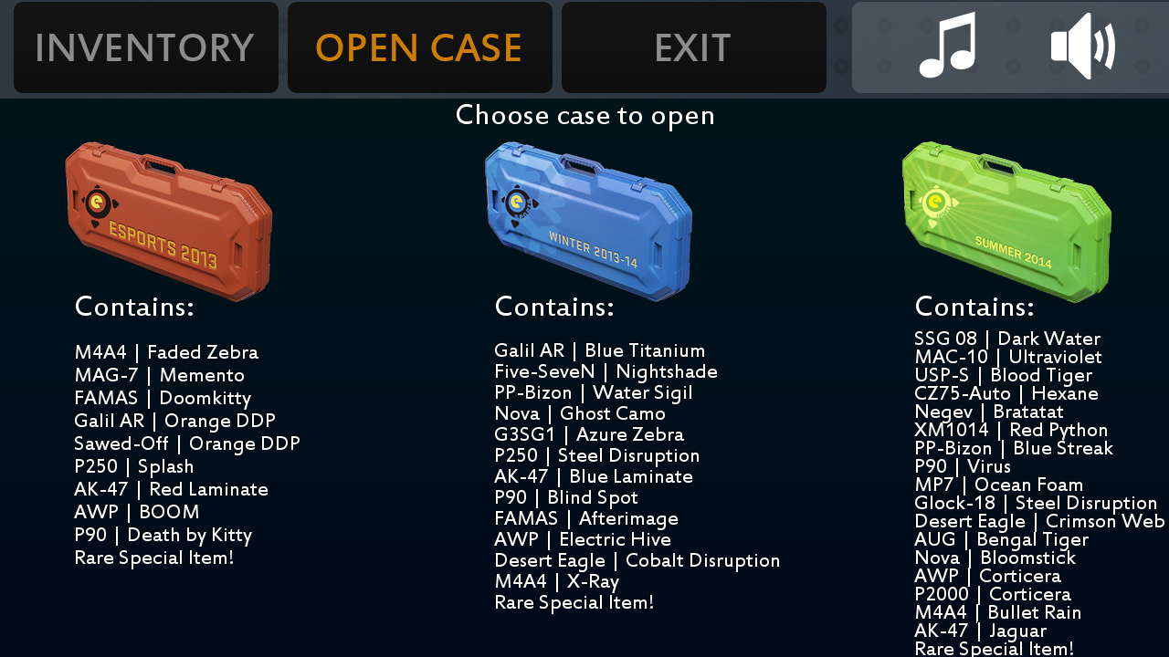 best cs go case to open