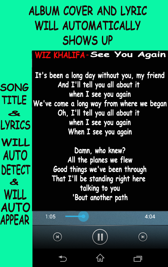 Lyric song finder using lyrics : Song and Music Lyrics Finder 4.2.1 APK Download - Android Music ...