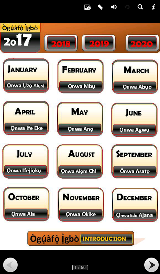 Igbo Calendar Eze Imo 10 Apk Download Android Productivity Apps
