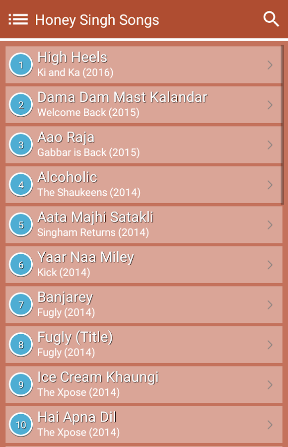 Hit Honey Singh's Songs Lyrics 4.0 APK Download - Android Music ...