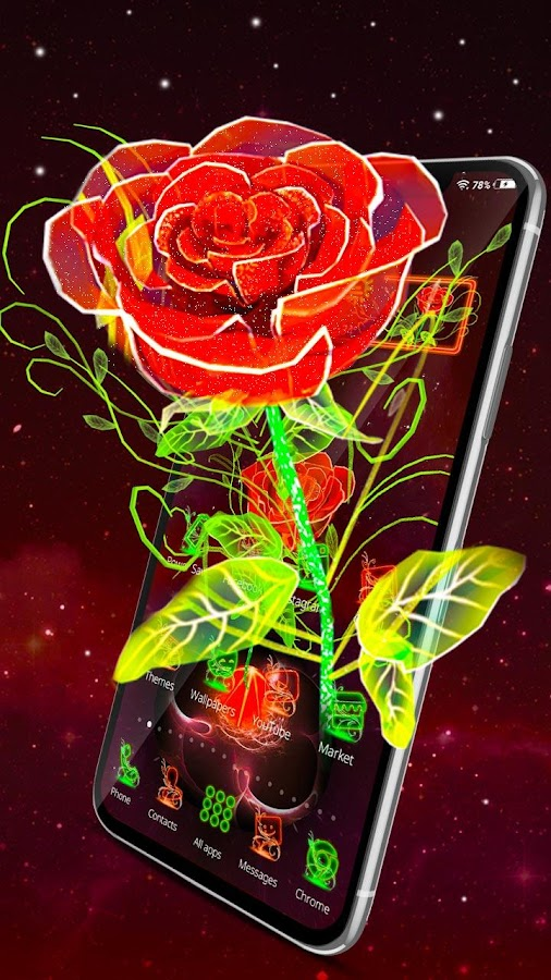 Neon Rose Wallpaper For Android Best Wallpapers Cloud