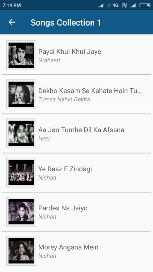 Hindi Old Video Songs - Sadabahar Old Songs 1 0 APK Download