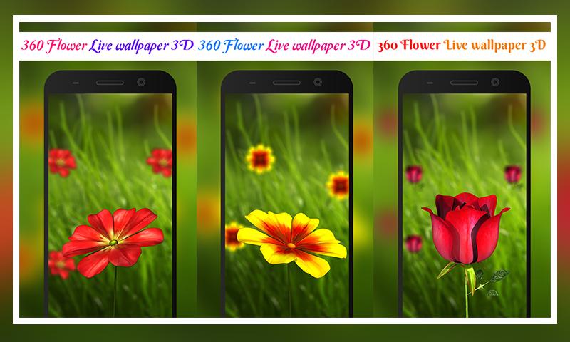 360 Flower Live Wallpaper 3D 104 Screenshot 1