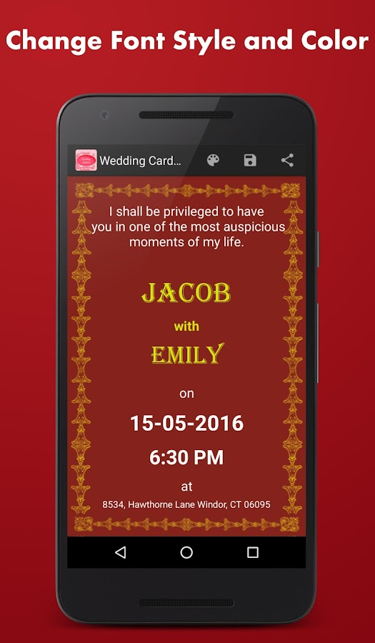 Wedding card maker 30 apk download android lifestyle apps wedding card maker 30 screenshot 1 wedding card maker 30 screenshot 2 stopboris Image collections
