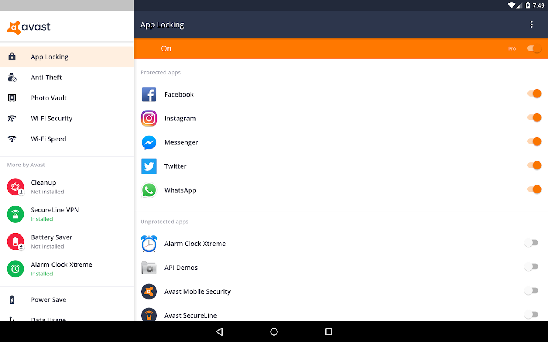 avast mobile antivirus security pro apk