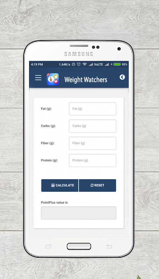 Free weight watchers points calculator app for android apk download.