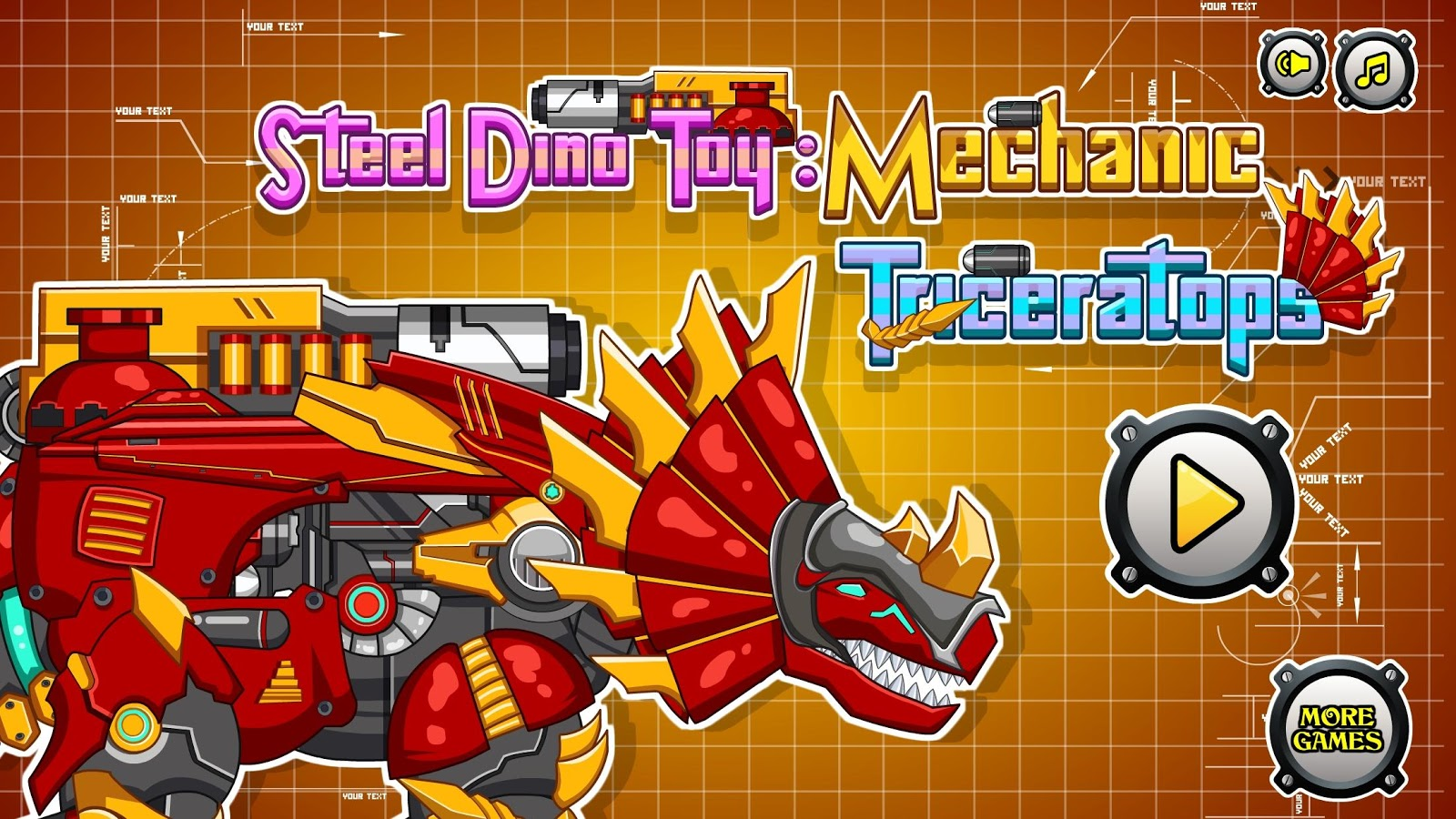 steel dino toy triceratops v2 0 apk download android casual games