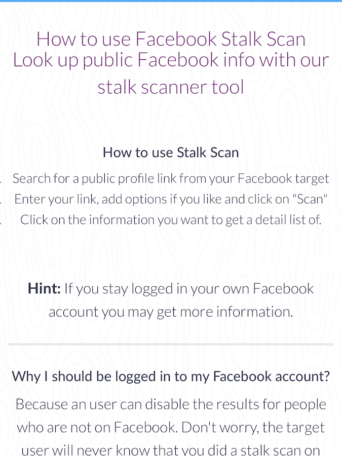 Stalk Scan 1 0 APK Download - Android Tools Apps