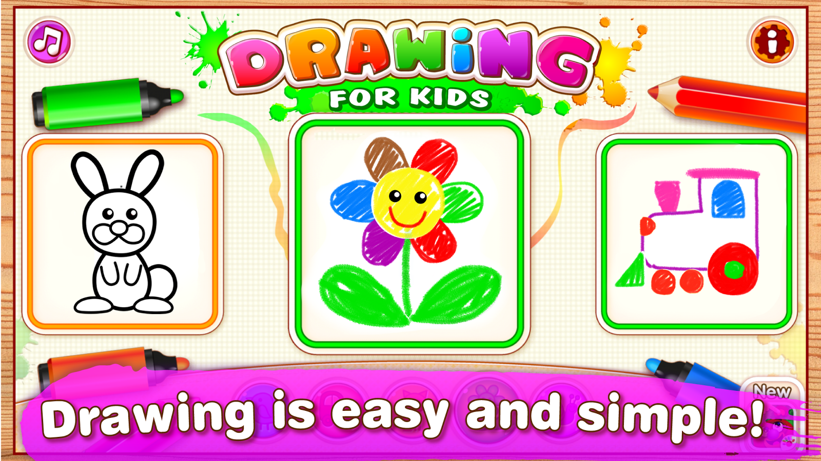 Drawing for Kids Learning Games for Toddlers age 3 2.1.1.1 APK ...