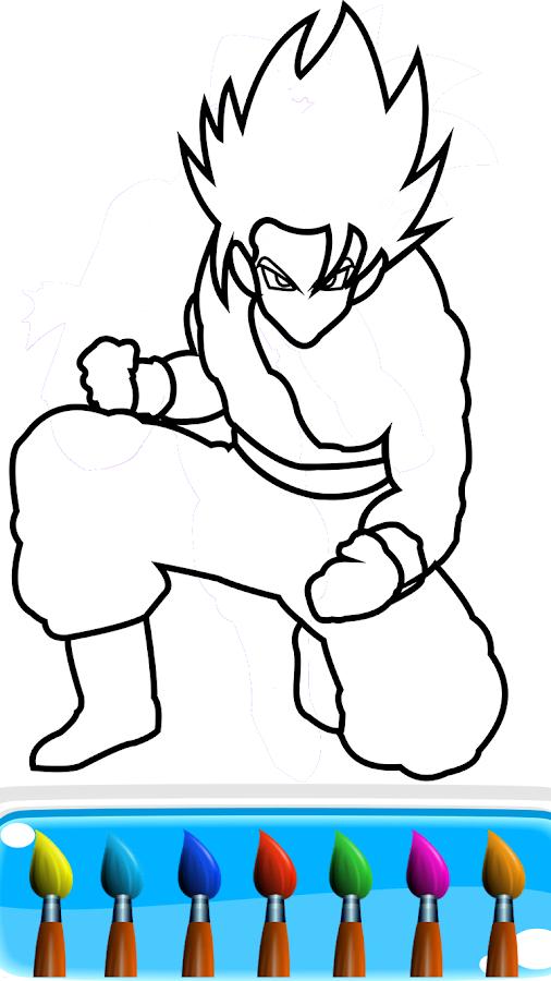 Goku Superhero Coloring Games For Kids Apk Download Android