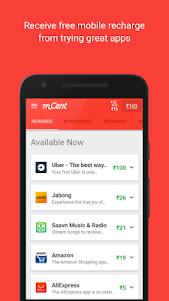 mCent - Free Mobile Recharge 2.0 screenshot 1