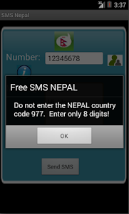 Free SMS Nepal 1.0 screenshot 2