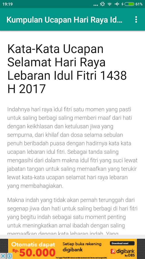 Kumpulan Ucapan Selamat Hari Raya Idul Fitri 2017 1 0 Apk Download
